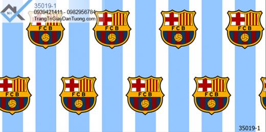 Giấy dán tường logo câu lạc bộ Barcelona- giấy dán tường logo barca