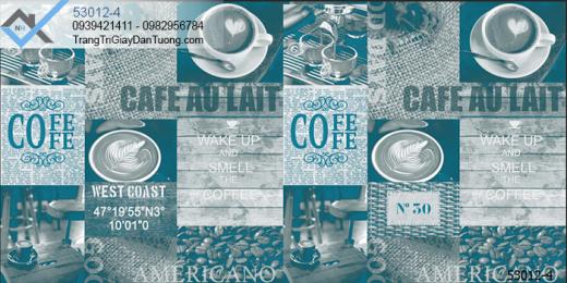 Giấy dán tường cafe-giấy dán tường ly cà phê