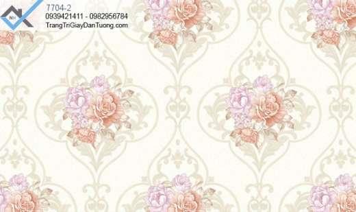 Giấy dán tường hoa hồng-giấy dán tường cổ điển