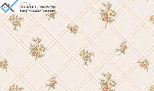 giấy dán tường ô chéo-giấy dán tường cành hoa