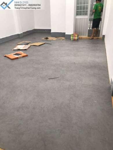Sàn nhựa màu xi măng-sàn nhựa màu bê tông