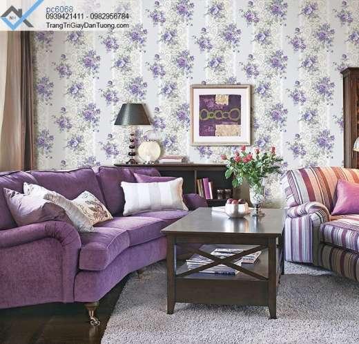 Giấy dán tường hoa hồng-giấy dán tường phòng khách