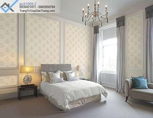Giấy dán tường hoa văn cổ điển-giấy dán tường phòng ngủ