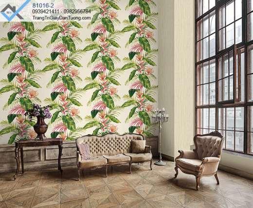 Giấy dán tường lá chuối-giấy dán tường cây chuối