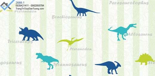 Giấy dán tường hình khủng long-giấy dán tường con vật