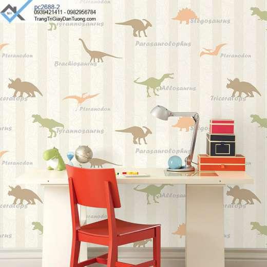 Giấy dán tường hình khủng long