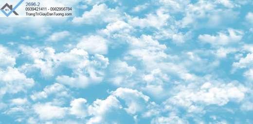 Giấy dán tường mây trời-giấy dán tường bầu trời