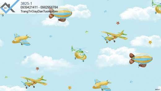 Giấy dán tường mây trời-giấy dán tường máy bay