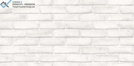 Giấy dán tường giả gạch trắng