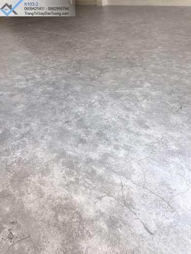 Sàn nhựa giả bê tông-sàn nhựa vân đá