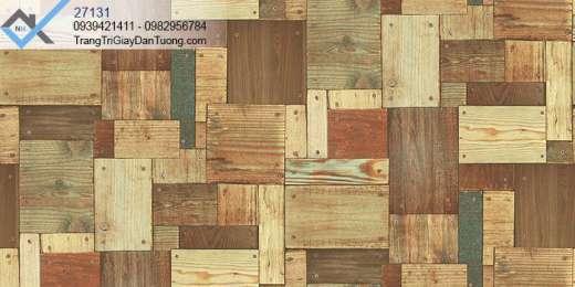 Giấy dán tường giả gỗ miếng