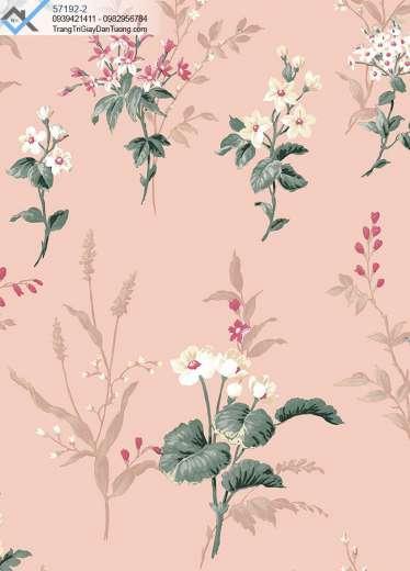 Giấy dán tường bông hoa