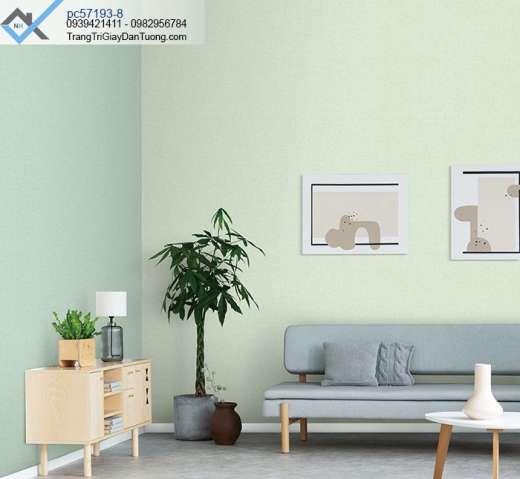 Giấy dán tường màu xanh nhạt