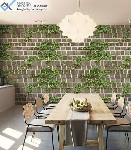 Giấy dán tường giấy leo tường gạch