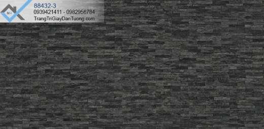 Giấy dán tường giả đá màu đen