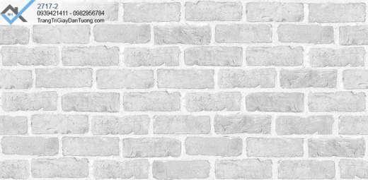 Giấy dán tường giả gạch màu xám