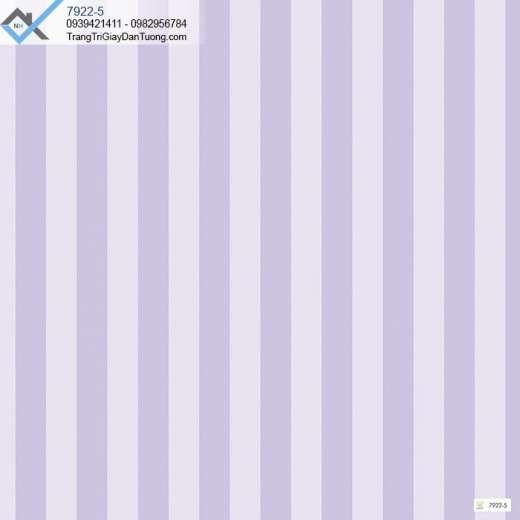 Giấy dán tường sọc màu tím