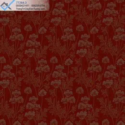 Giấy dán tường bông hoa đỏ