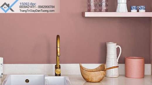 Giấy dán tường màu hồng