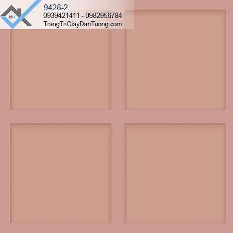 Giấy dán tường ô vuông màu hồng