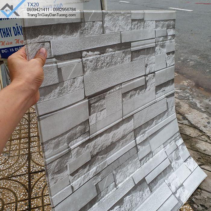 Xốp dán tường giả đá