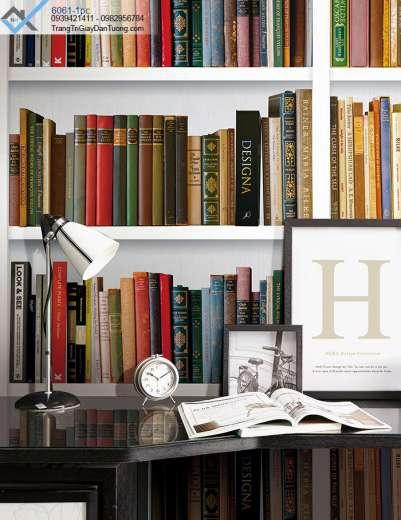 Giấy dán tường kệ sách