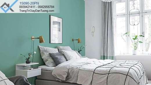 Giấy dán tường điểm nhấn phòng ngủ